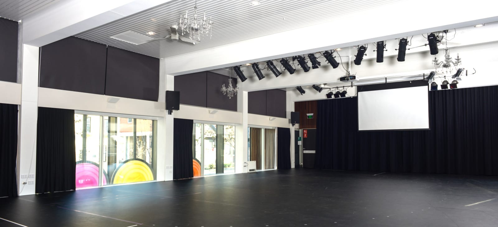 Interior shot of ESCAC Rehearsal Space