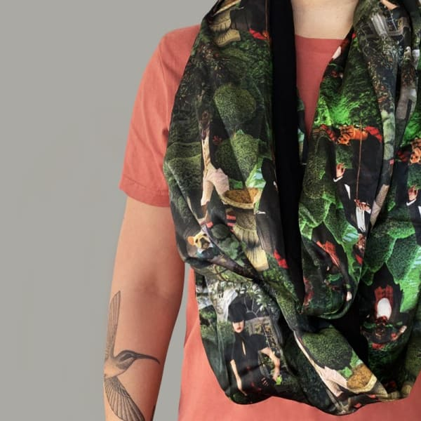 """In the Garden"" (scarf) by Chantal O'Reilly"